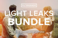 The FilterGrade Light Leaks Bundle for Photoshop